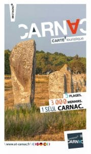 Cover of the 2020 edition of Carnac map and tourist guide