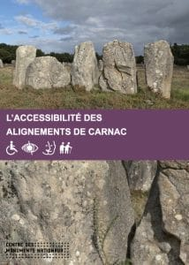 Dépliant sur l'accessibilité des alignements de Carnac