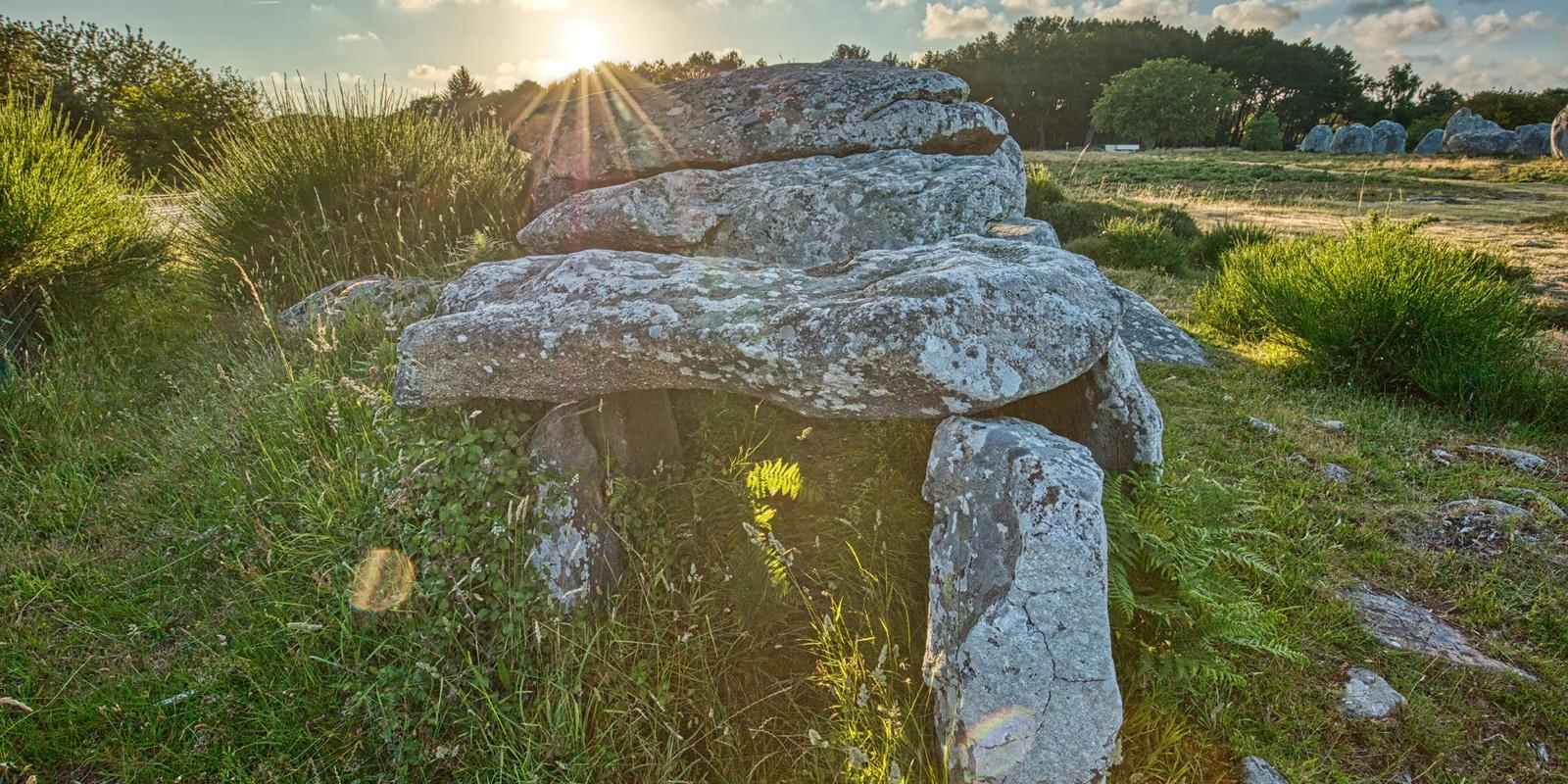 Le dolmen de Kermario à Carnac