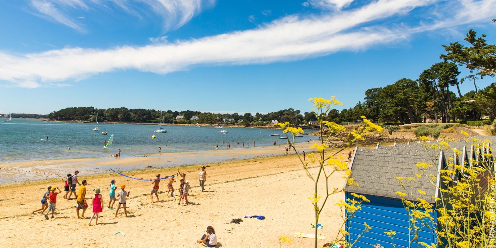 La Grande plage de l'île aux moines copyright Simon BOURCIER-Morbihan Tourisme