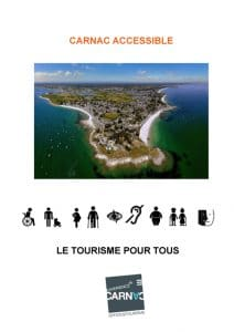 Couverture du guide pratique Carnac accessible guide OT carnac