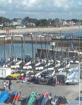 Webcam view of the Port en Dro nautical base and the Carnac yacht club.